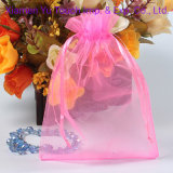 Cheap Personalized Organza Gift Bags / Pouch with Logo Ribbon