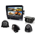 "7"" Quad Bus Monitor with IP69 CCD Rear View Camera"