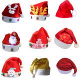 Wholesale Santa Claus' Cap Christmas Xmas LED Santa Hat for Kids and Adults