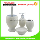 Wholesale Ivory White Ceramic Bathroom Fitting with Soap Dispenser on Glazing