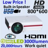 Cre 3000 Lumens HD LED Projector for Home Theater