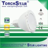 5W Aluminum Plastic SMD Gu5.3 LED Spot Light Lamp with Ce RoHS