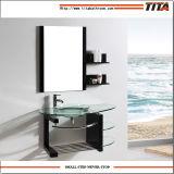 Glass Wall Cabinet/Glass Countertop Basin/Italian Design Bathroom Vanity Basin (TB034)
