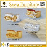 Fashion Gold Rhinestone Pearl Napkin Ring for Table Decoration