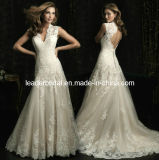 Lace A-Line V-Neck Bridal Wedding Gown Corset Bodice Cap Sleeves Bridal Dress W131241