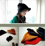 Winter Popular Children′s Hat Wild Concave Shape Wool Basin Hat Knitted Hat