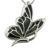 Enamel Steel Butterfly Pendant Women Jewelry