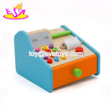New Hottest Pretend Play Mini Wooden Supermarket Toy Cash Register for Kids W10A070