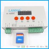 RGB Pixel Controller K-1000c DC5-24V Programmable LED Light Control 2048PCS TM1804/Lpd6803/DMX512/Ws2812
