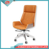 Ben Wood Leather Swivel Meeting Manager Office Chair with Hand-Rest (Hz-506)