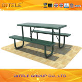 Outdoor Cheap Customized Metal Park Bench with Metal Desk (PAC-30205)