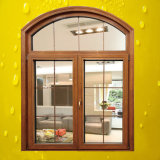 Top Arched Grills Design Aluminum Wood Window