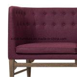 (SD-6006) Modern Hotel Restaurant Office Wooden Leisure Fabric Sofa