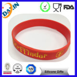 Lowest Price Silicone Bracelet with Debossed Logo and Color Filled