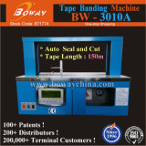 Small Tabletop OPP Film Paper Tape Auto Seal and Cut Currency Machine Binding Banding