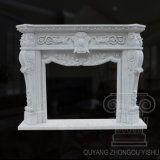 Great Quality Hand- Carved Hunan White Marble Fireplace Sculpture