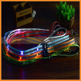 Wholesale 120cm Length 2.5cm Width Flashing LED Dog Leash at Night