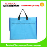 blue Polyester Fabric School Tote Book Bag