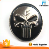 Wholesale Popular Cool Metal 3D Skull Black Enamel Lapel Pin