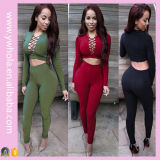Fashion Winter Warm Long Sleeve Two-Piece Women Clothes