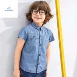 Hot Sale Slim Comfortable Boys′ Short Sleeve Denim Shirt by Fly Jeans