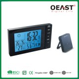 Blue Backlight Digital Room Weather Forcast Clock with USB Charge