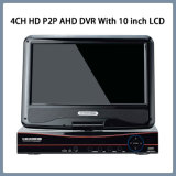 4CH HD P2P AHD DVR with 10 Inch LCD