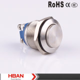Hban Ce RoHS (19mm) High Round Screw Terminal Metal Push Button Switch