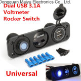 Mobile Phone Accessory Dual USB Car Charger Cigarette Lighter