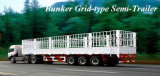 3 Axles Stake Fence Semi Truck Trailer for Cargo Transportation