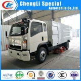 Sinotruk HOWO 4X2 4000L Sanitation Street Cleaning Vehicle Road Sweeper Truck