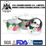 Manufacturer FDA Standard Customized Logo Ceramic Enamel Cookware Set
