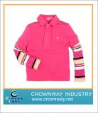 Bright Color Soft Sport Cotton Polo Shirt for Little Girl