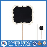 Wooden Square Shaped Message Board Blackboard for Leaving Note