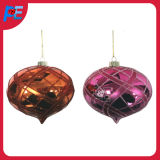 Water Drop Shaped Glass Hanging Ornament for Christmas Tree Decorations