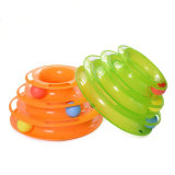 3 Layers Turntable Crazy Ball Disk Cat Toy for Kitten Cats