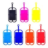 OEM Custom Printed Silicone Card Holder Lanyard Cell Phone Neck Strap