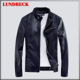 Simple PU Jacket for Men in Fashion Clothing