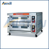 Htr-28q Factory Price Stainless Steel 2 Layer-8 Tray Gas Deck Oven for Catering Equipment