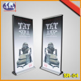 Exhibition Advertising Display Stand Retractable Pole Roll up Banner Stand
