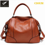High Quality Real Genuine Leather Lady Handbag Cowhide Tote Bags Women 2018