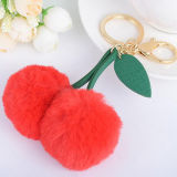 Wholesale Factory Promotion Accessory Fur Ball Keychain Fur Gift Fashion Accessory for Bags FT051