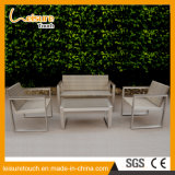 Metal Brushed Aluminum Sofa Set for Patio Leisure Table and Chair Set Garden Outdoor Furniture