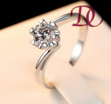 925 Sterling Silver Jewelry Ring Charm Woman Wedding Stone
