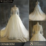 Hot Seller Lace Applique Beads Bridal Gown
