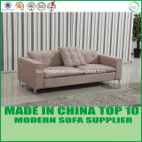 Contemporary Living Room Fabric Sofa Set with Wooden Frame