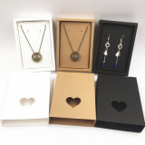 Simple Style Jewelry Paper Gift Box with Three Colors Selections