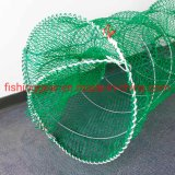 Green Color PE Knotless Net Noble Fish Trap for Fishing Tools