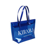 Multicolored PVC Handle Fashion Shopping Tote Bag