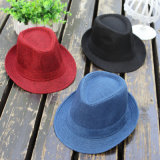 Fashion Mixed Color Cheap Jazzy Hats Polyester/Cotton Custom Fedora Hat